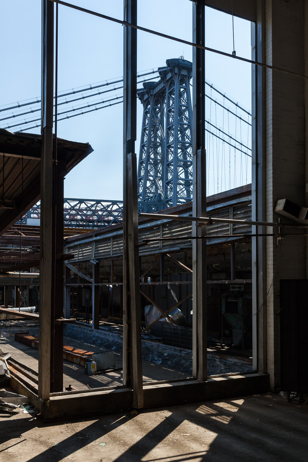 Looking South toward Williamsburg Bridge, Packing House, Domino Sugar Factory