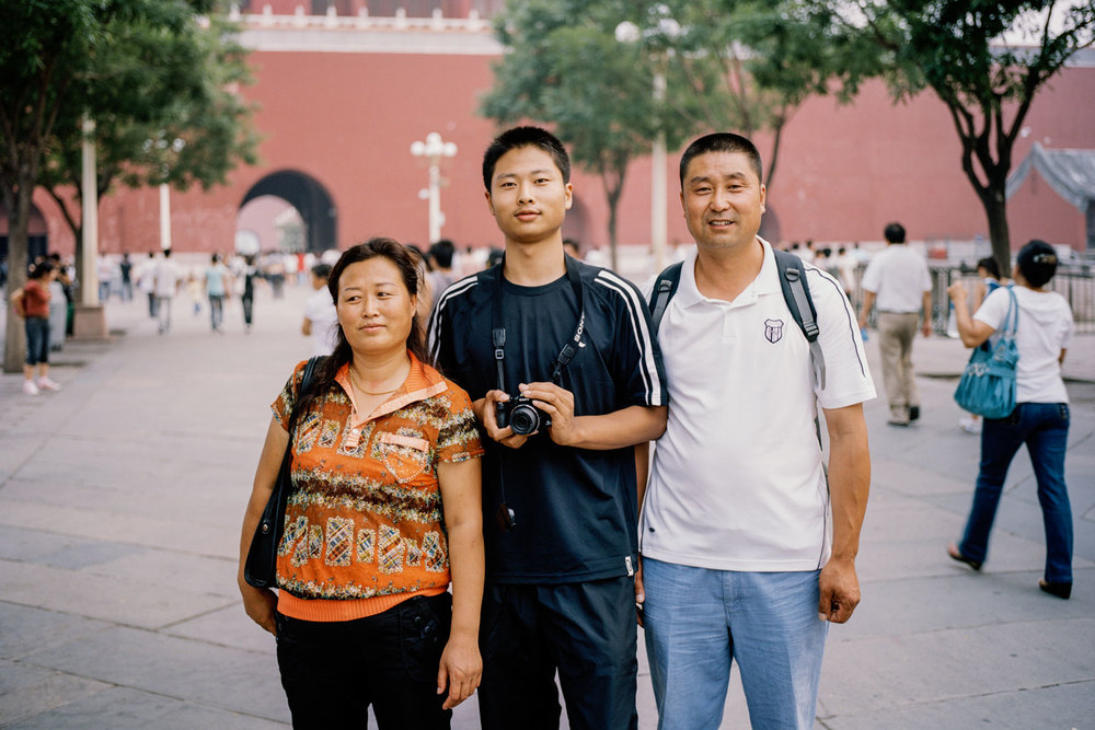 Family outside the Forbidden City
