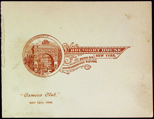 """Camera Club,"" MAY 12TH, 1896. Invitation front"