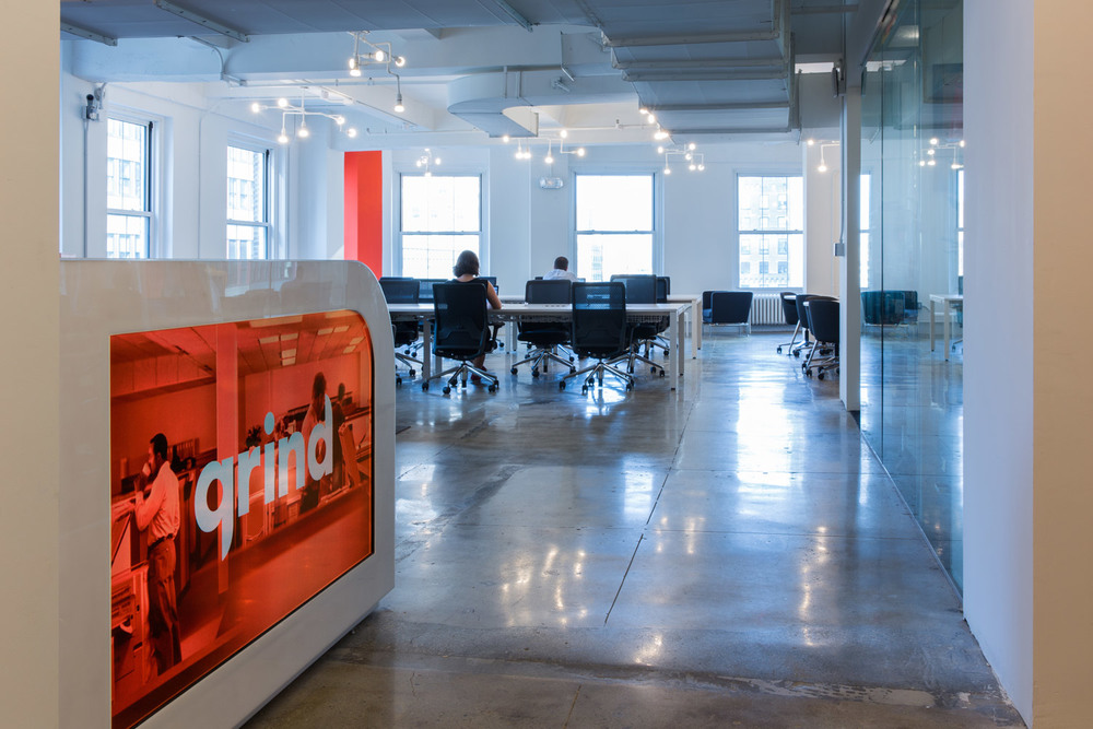 Grind Broadway's reception and main space.