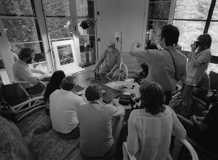 Ansel Adams – Conducting A Critique Session, Courtesy the  Ansel Adams Gallery .