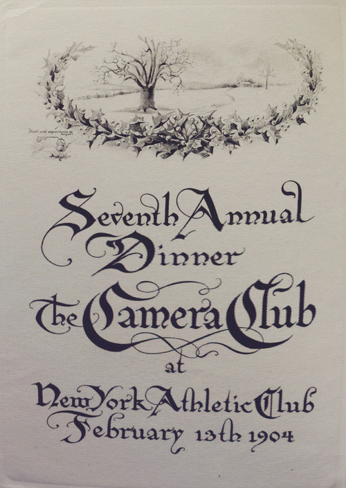 The Seventh Annual Dinner, The Camera Club. Inside menu right.