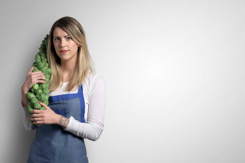 Mary Mattern,Vegan Chef  nomyourself.com     studio portrait for Nikon, I AM GENERATION IMAGE