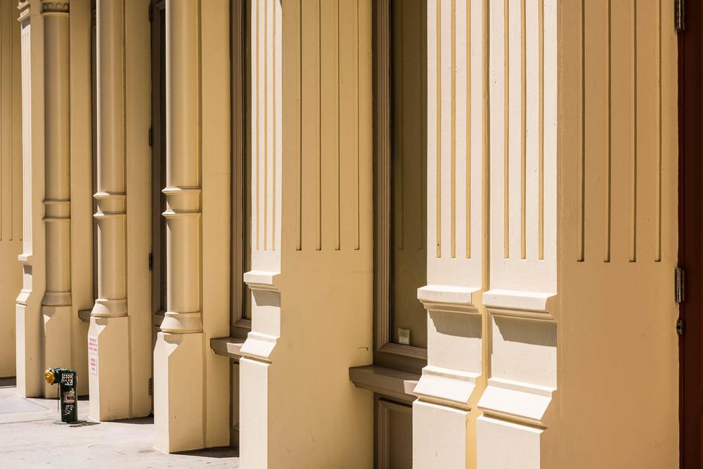 Columns, SoHo, New York City.©2015 harlan erskine.