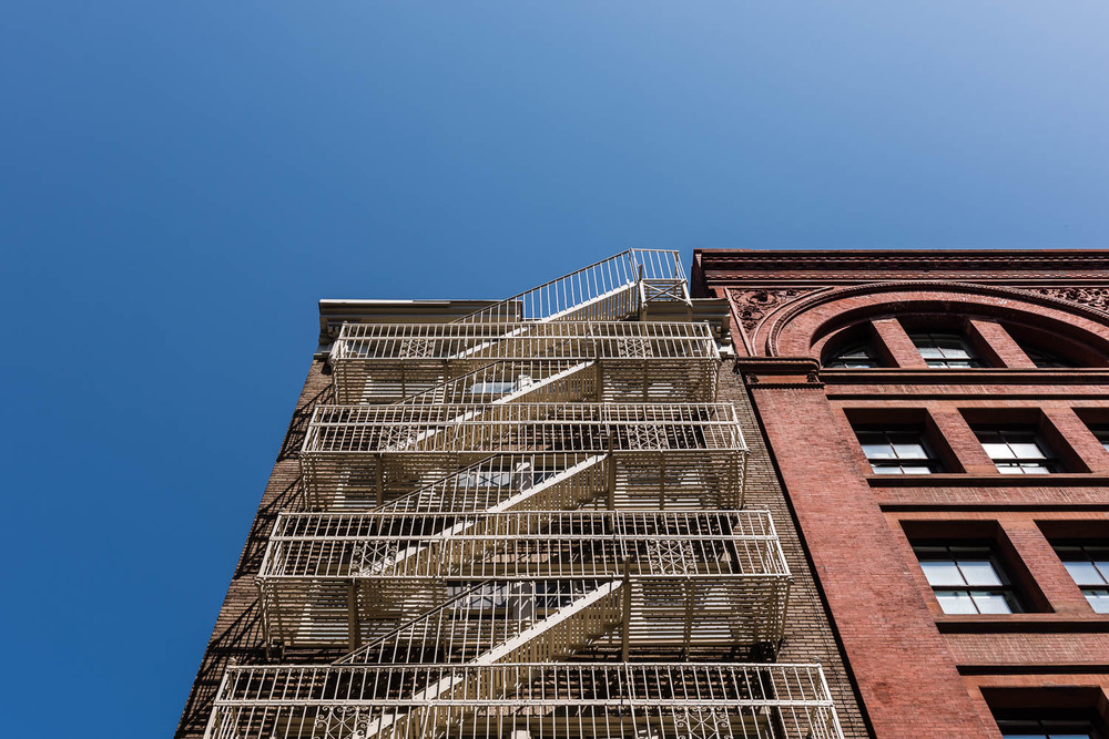 Fire Escape, SoHo, New York City.©2015 harlan erskine.
