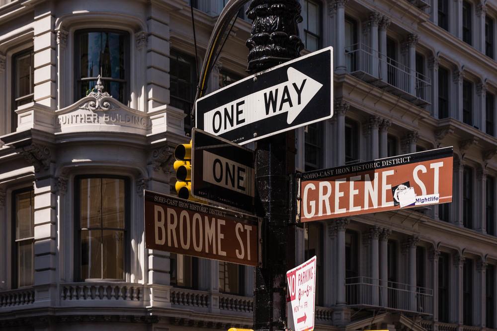 Broome St. and Greene St., SoHo, New York City.©2015 harlan erskine.