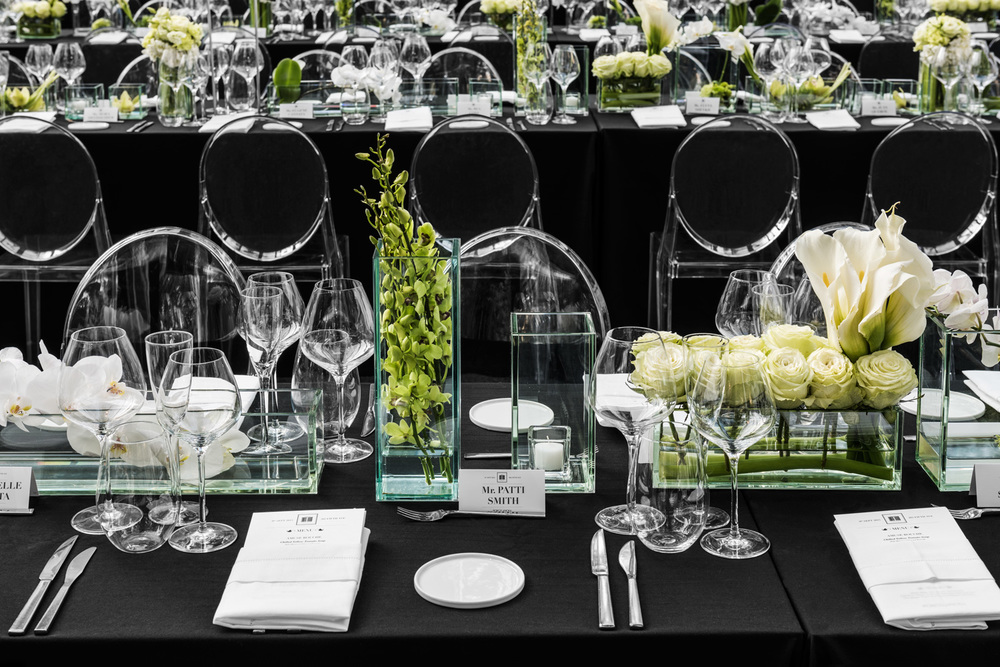 Porcelanosa NYC Opening Event, place setting. © harlan erskine 2015.