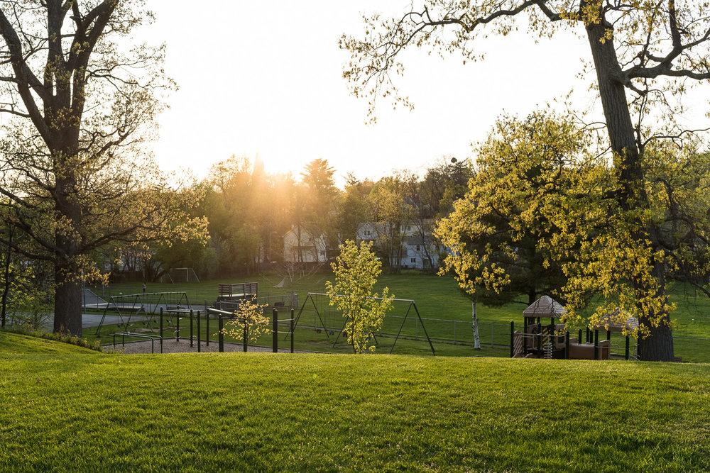 Playground,Goshen, NY, April, 2017. © harlan erskine.