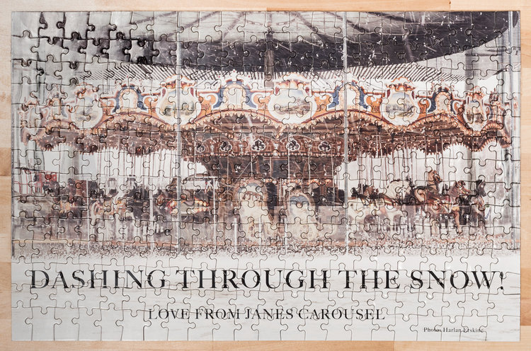 """Dashing Through the Snow! Love from Jane's Carousel Photo: Harlan Erskine"" © harlan erskine."