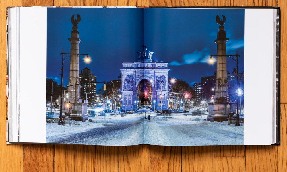 Winter Night at Grand Army Plaza . Pages 124–125. © harlan erskine 2014.