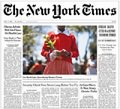 New York Times, app is free, the subscription is $5 per week