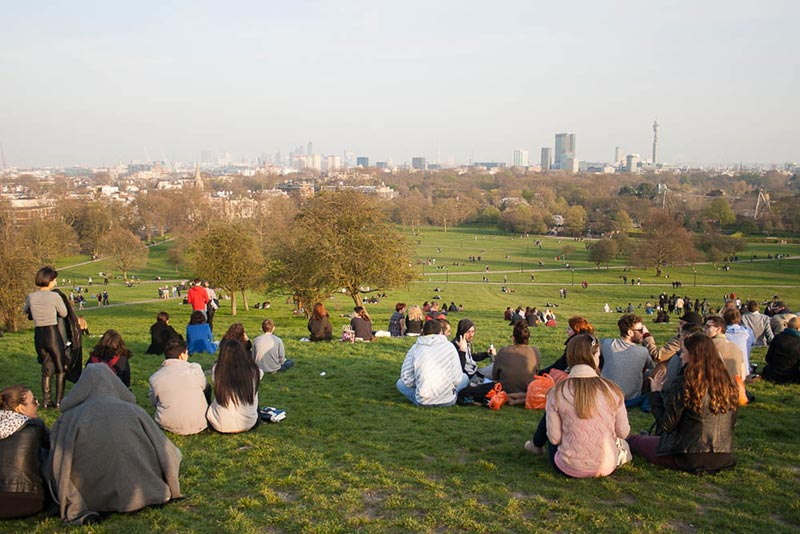 The view from Primrose Hill
