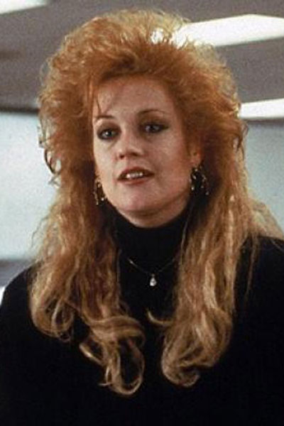 Melanie Griffith before hair cut...she's a secretary with a cheating fiance and lives on Staten Island