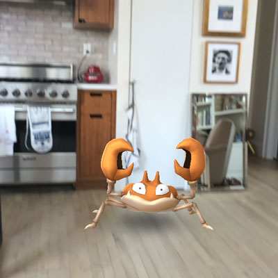 Pokemon in the kitchen