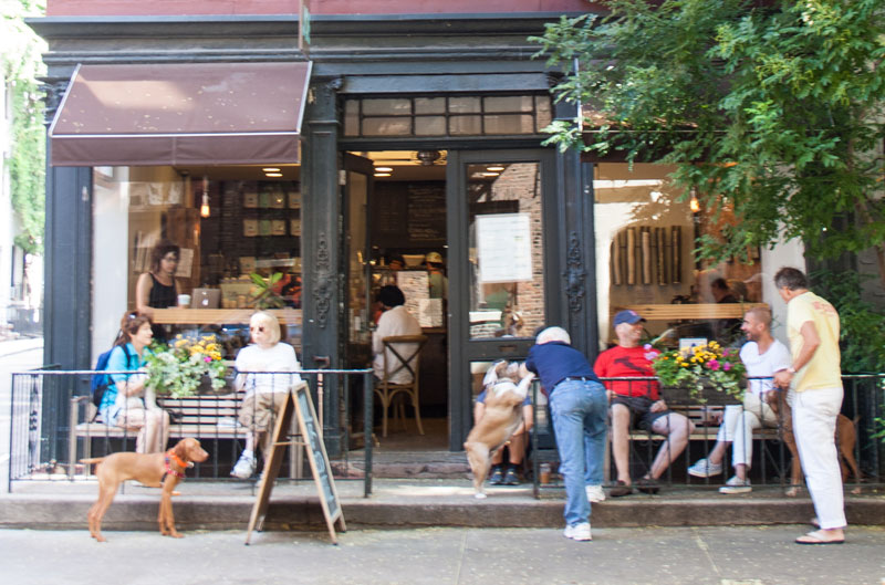 Joe's Coffee, West Village NYC. My local coffee shop on a very hot July day.
