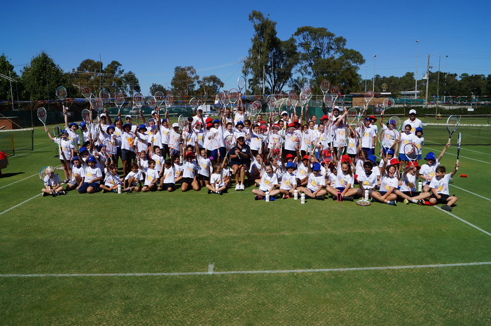 Bumper numbers in Shep – our thanks to SLTC President Malcolm Thiel for hosting us and to Ian Gross for ensuring everything was how we needed it!  Head Pro Luke Dickson will be coaching our chosen Indigenous kids again this year