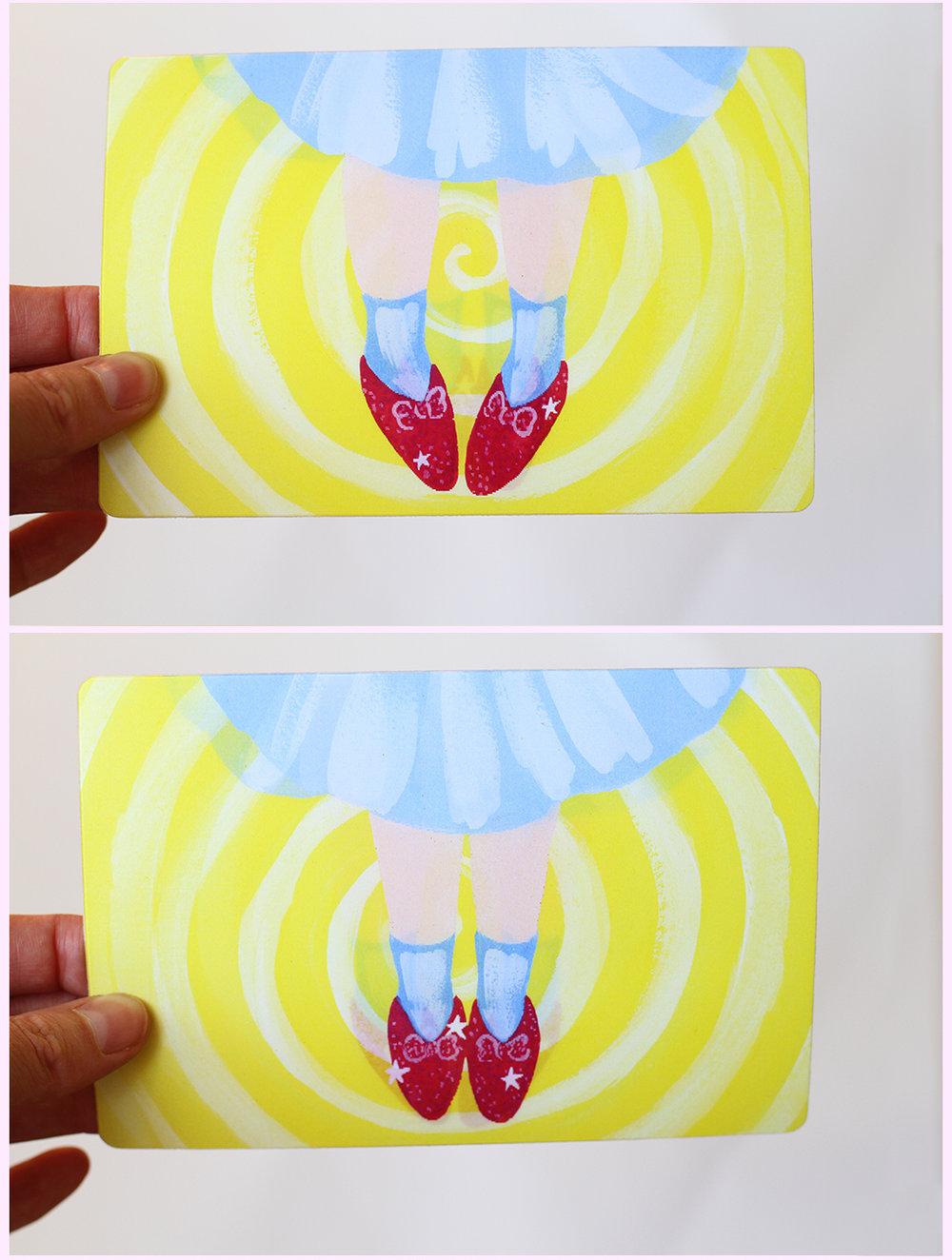 magical lenticular art print - image changes based on viewing angle, 2017