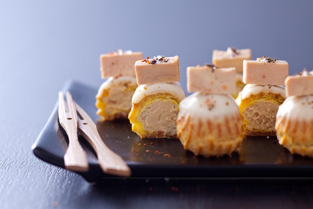 Eclair foie gras-panais