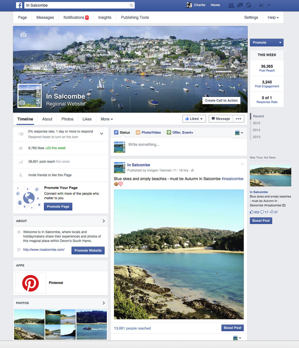 The In Salcombe Facebook page