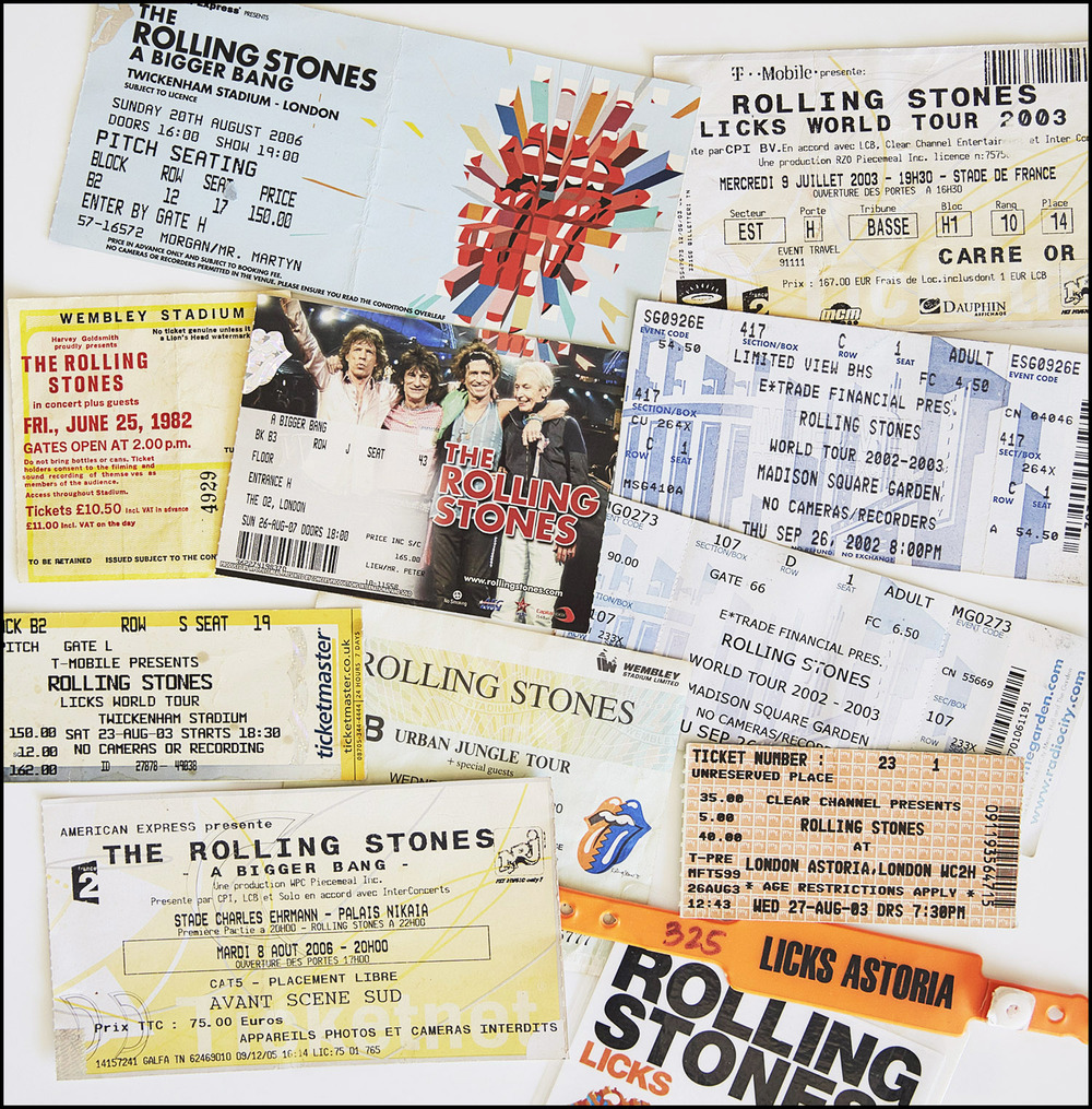 A few Stones tickets from over the years!