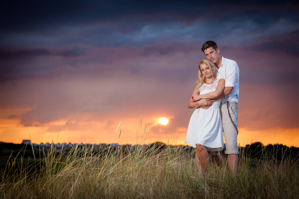 Engagement Love Shoot at sunset - Pre-Wedding Photographs - David Duignan Photography