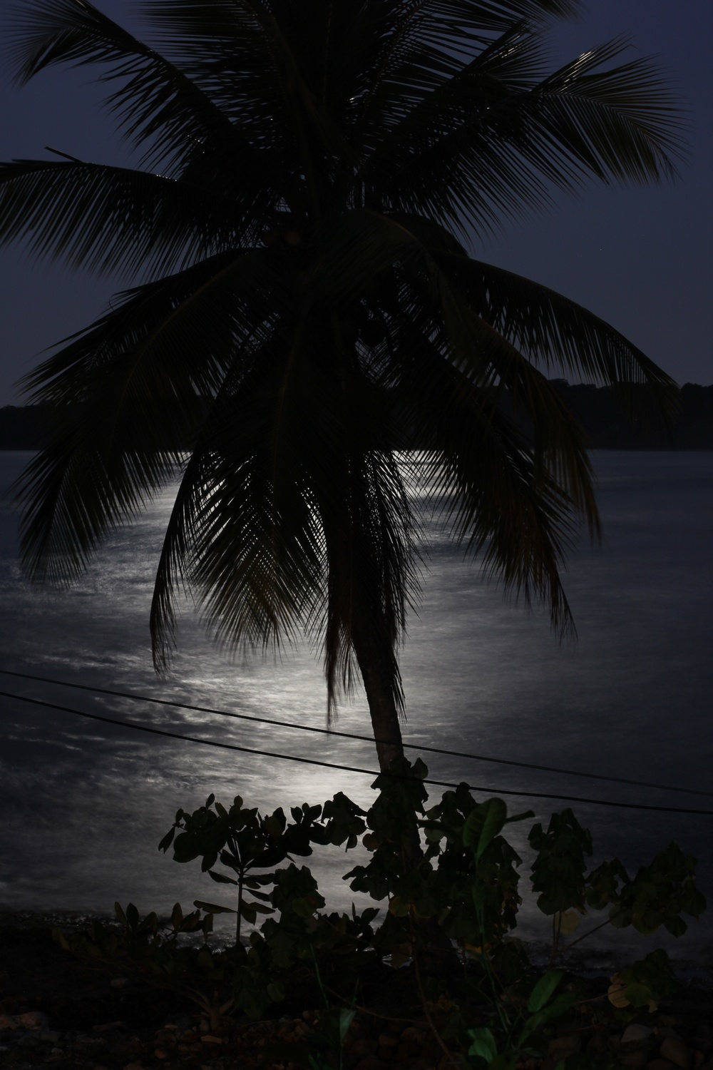 full moon in cahuita bay