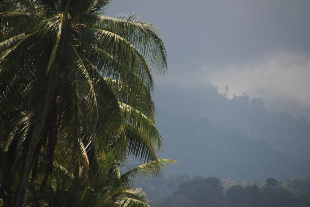 the rainy season having a look from the mountain top