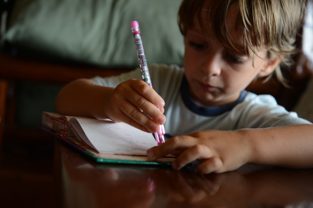 schreiben und radieren