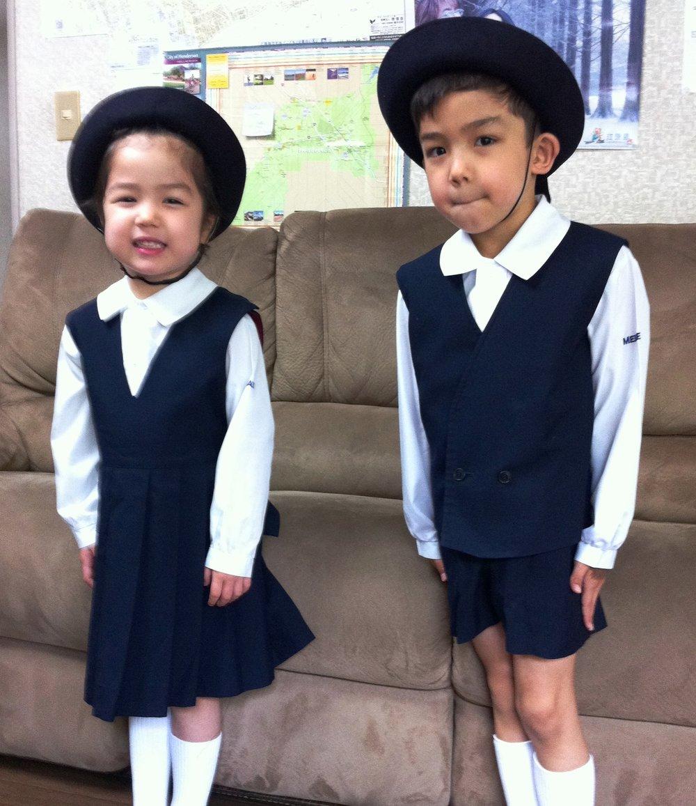 The preschool uniforms were pretty great. I love the collars.