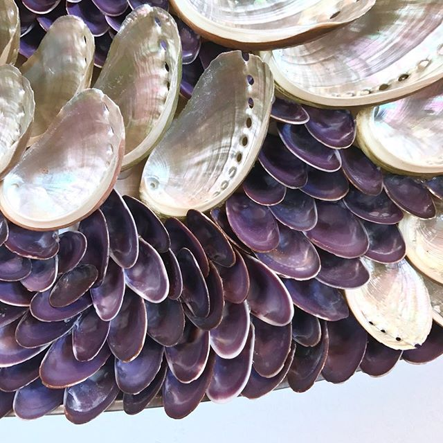 Sea Lavender by Blott Kerr-Wilson is now available to purchase via our website. (Link in bio) 💜_____________________________________________________________ #blottkerrwilson #tannerandlawson #sealavender #shellart #shellwork #shellgrotto #abalone #abaloneshells #shells #shellartist #lavender #shells #burnhammarket #🐚