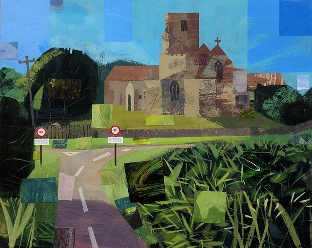 Approaching Morston by Peter Clayton | Mixed media on deep canvas | 40 x 50 cm | Framed - £800