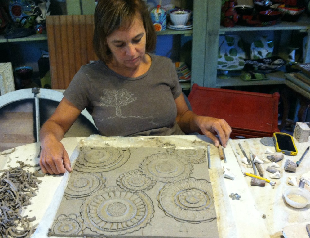 Clare carving tile for table top