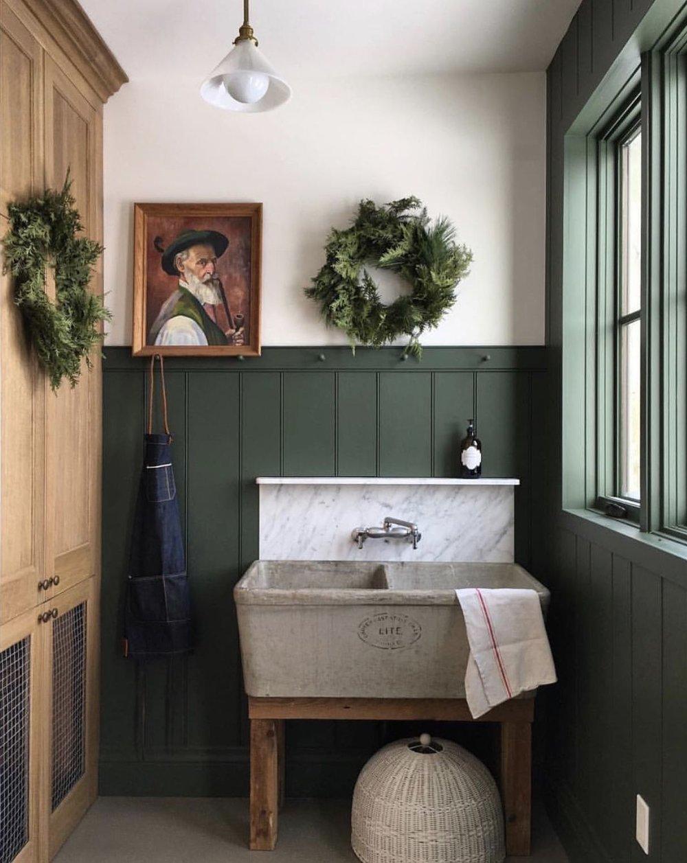 dark-green-olive-kitchen-mudroom-mud-room