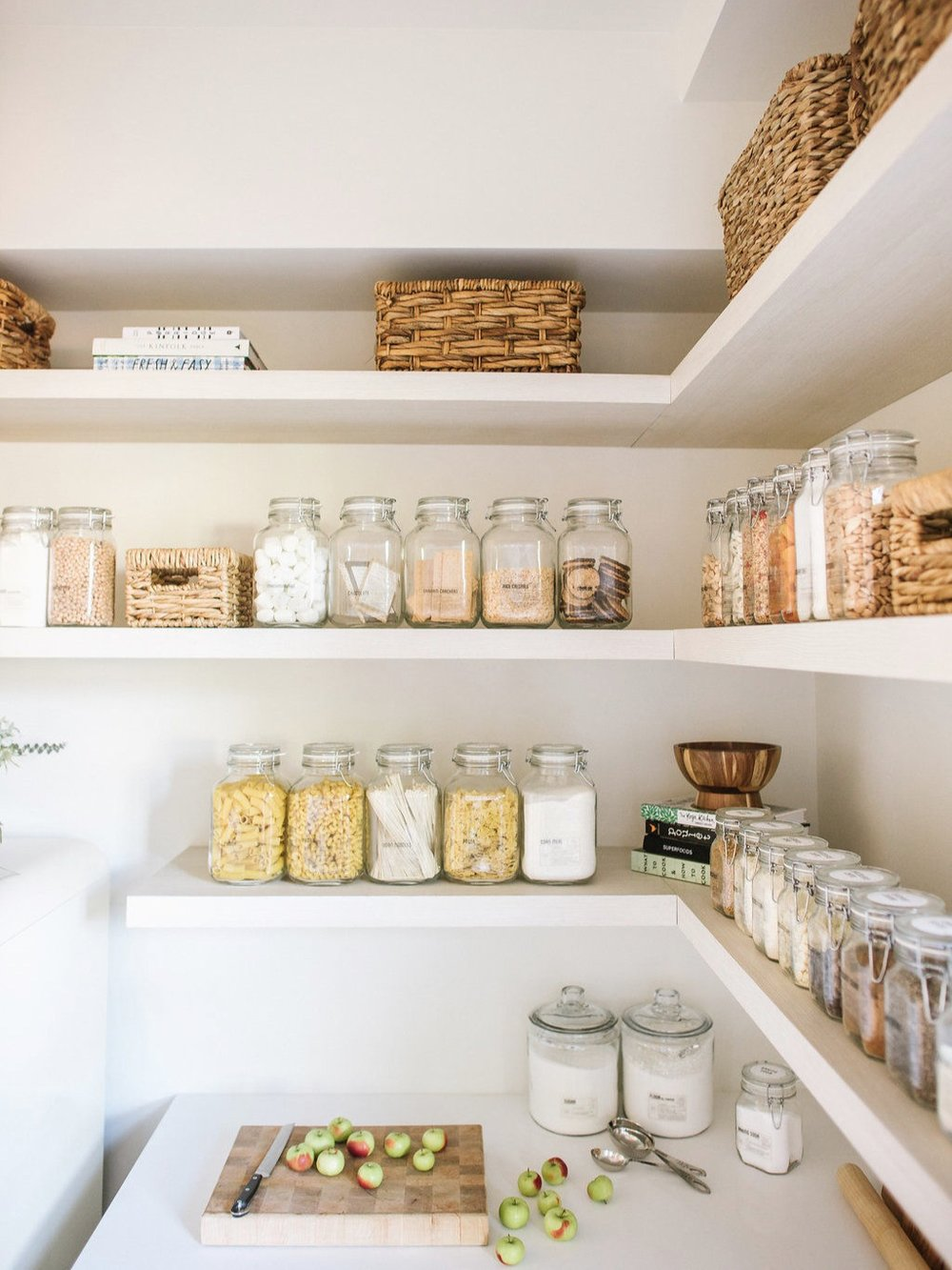 A beautifully organised kitchen pantry via  Organised Home