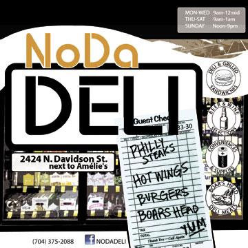 NoDa Deli print advertisement.