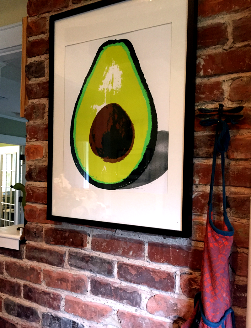 """Holy Avocado!"" 4 color screen print (24""x19"") BUY"