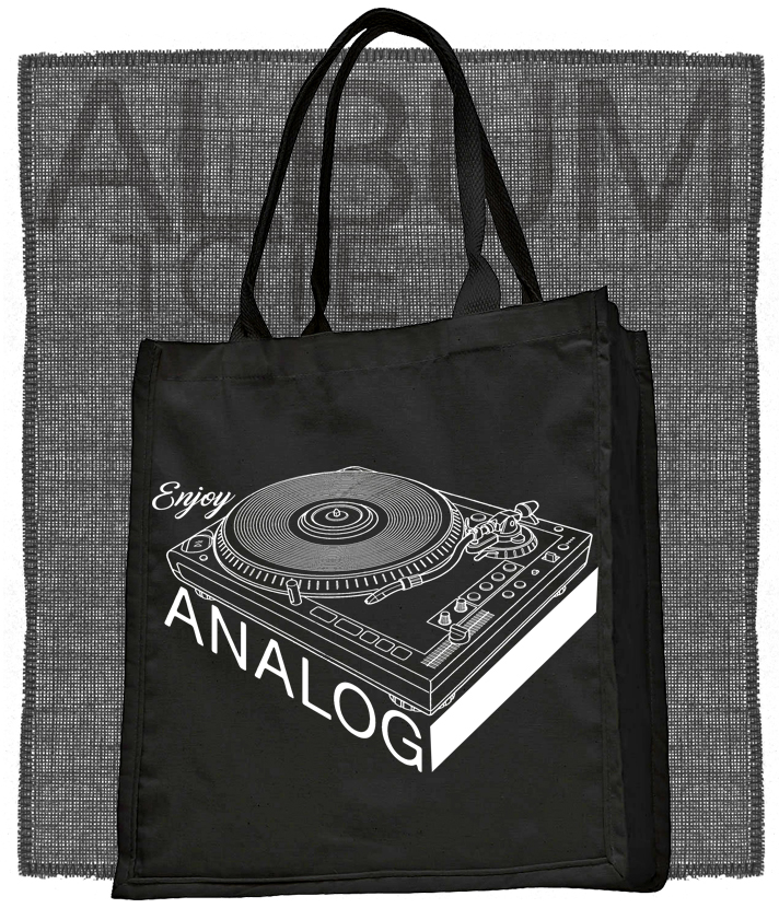 Record Player Enjoy Analog Tote or T-Shirt