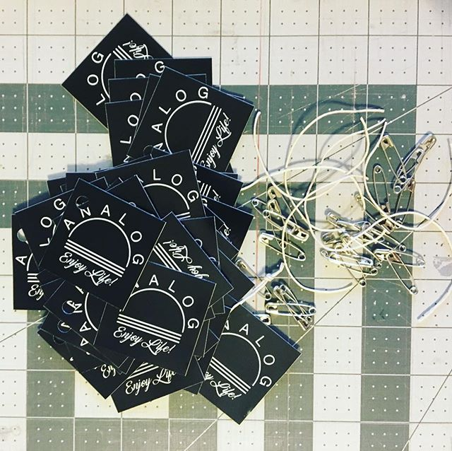 Getting some tags ready for totes and tshirts! Have you checked out www.theanalogworld.com #analog #handmade