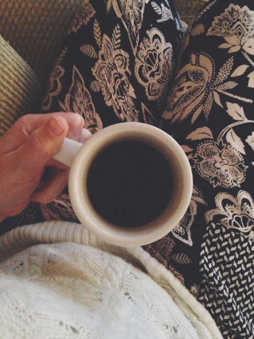 A cup of coffee is truly the key to my heart. Also, I like my pants today.