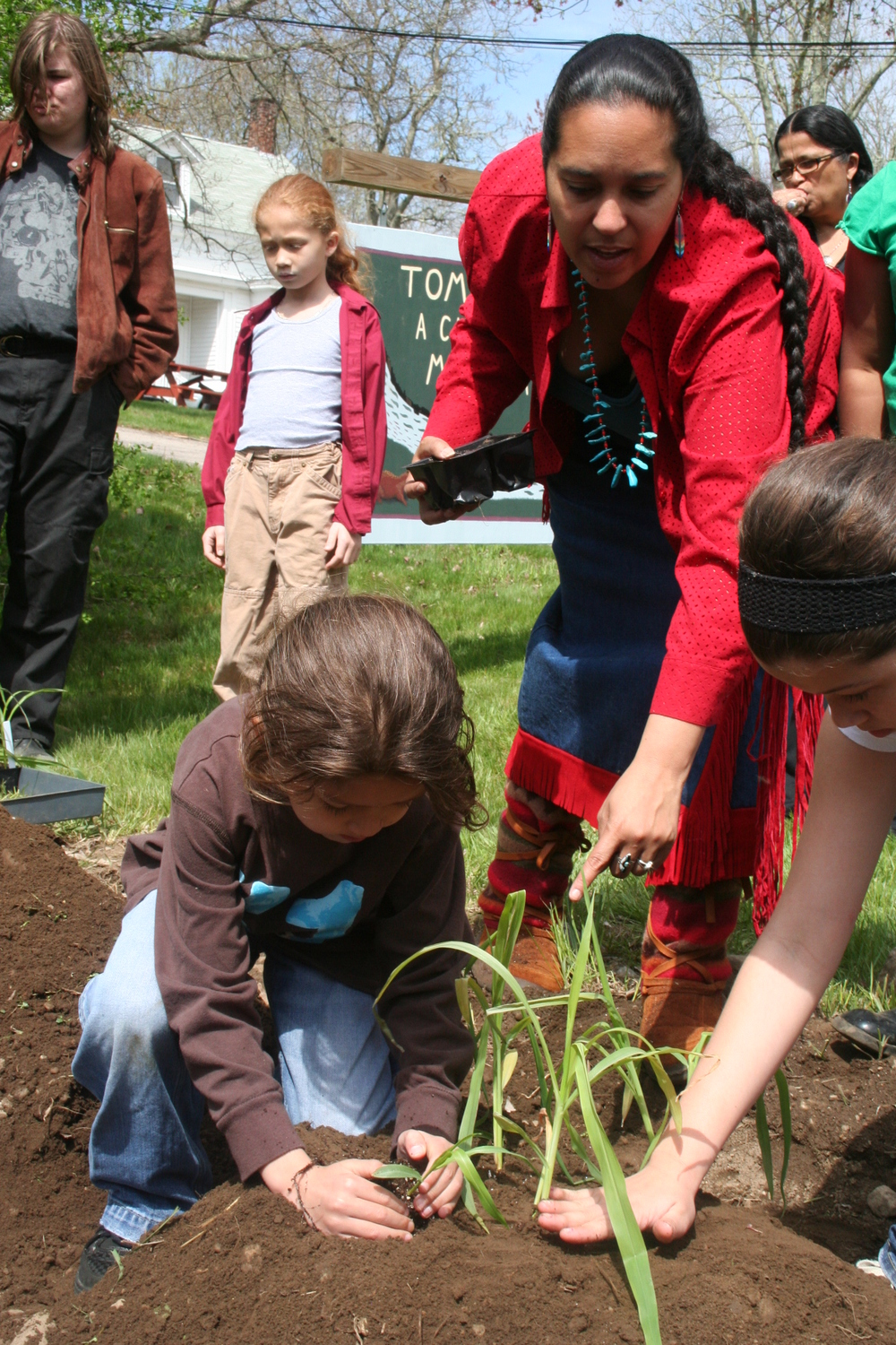 Planting Corn in the Tomaquag Garden
