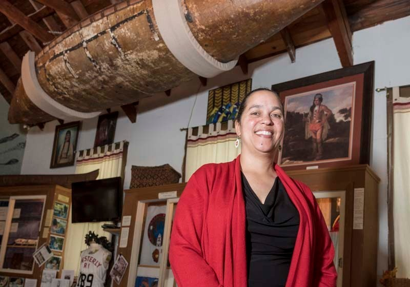 Lorén Spears is executive director of the Tomaquag Museum in Exeter, the state's only American Indian museum, featuring hundreds of artifacts of local tribes. One of the more memorable is a birch tree-crafted canoe, Spears is a descendent of the makers of the canoe. PBN FILE PHOTO/ MICHAEL SALERNO