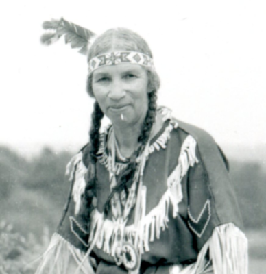 Image: Princess Redwing ca. 1960 Tomaquag Museum Archives