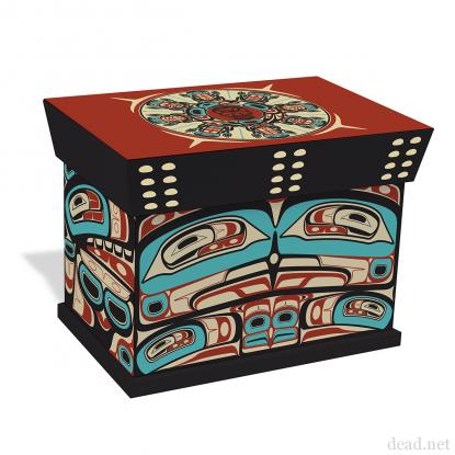 The boxed set is limited to 15,000 copies and is of traditional bentwood Haida design)