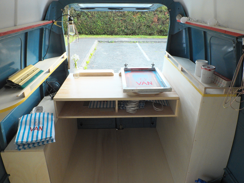 Inside layout of the van.