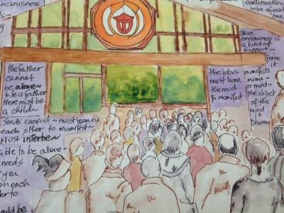 Dharma Talk,  Plum Village  by Helena Hill