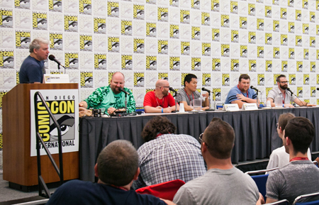Live taping Podcrash with Chris Gore panel at San Diego Comic Con.