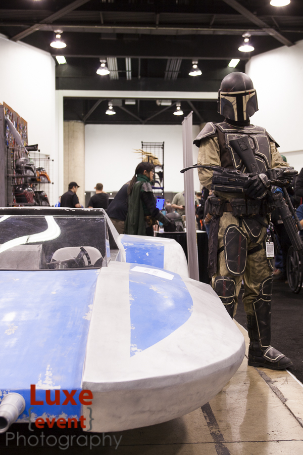 The Mandalorian Mercs club not only had great costumes but also a working replica of a land speeder.