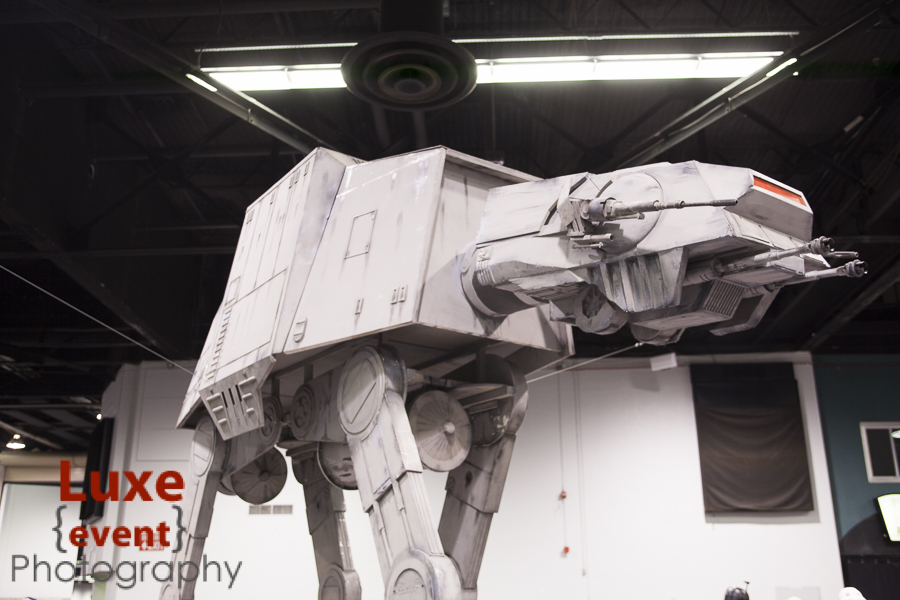 Among the amazing props on display was a full size At-At watching over the convention floor.
