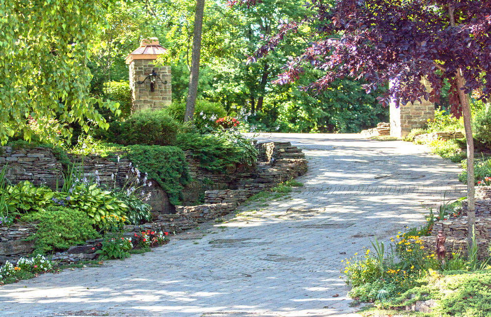 Landscape Design | Paving Stone Driveway | Dry Lay Stone | Waterfront Dream Home | Riverview Design Solutions | McFarlane | Prescott, Ontario, Canada