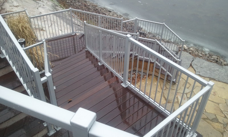 Stairway and Handrail Design | Landscape Design | Thousand Islands | Riverview Design Solutions | Prescott, Ontario, Canada